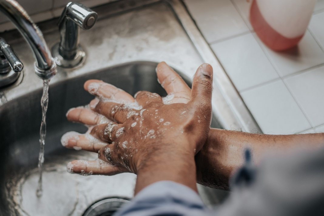 Keep washing your hands regularly with soap and water!
