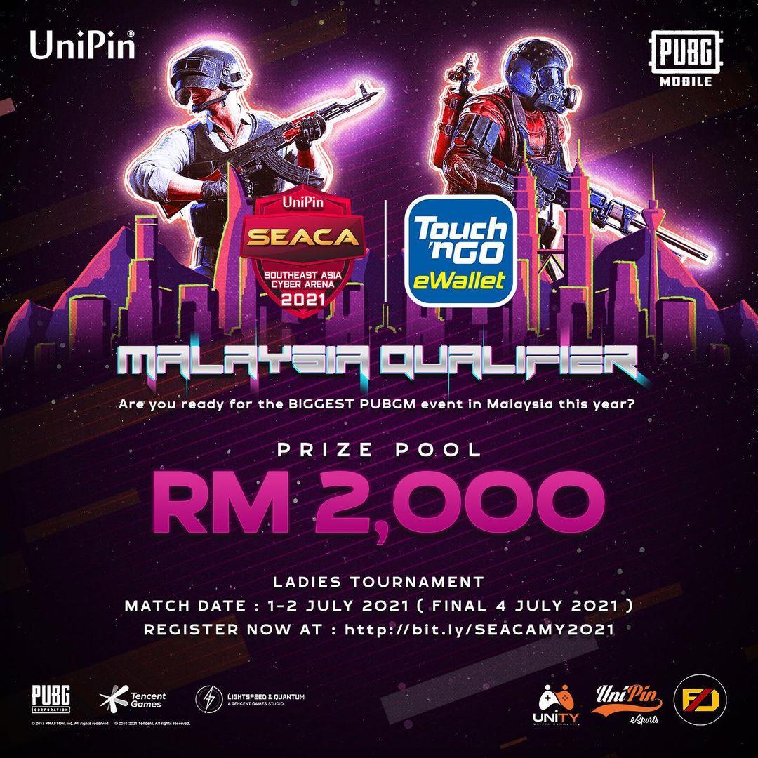 144 Esports Teams Join UniPin SEACA 2021 Malaysia Qualifier